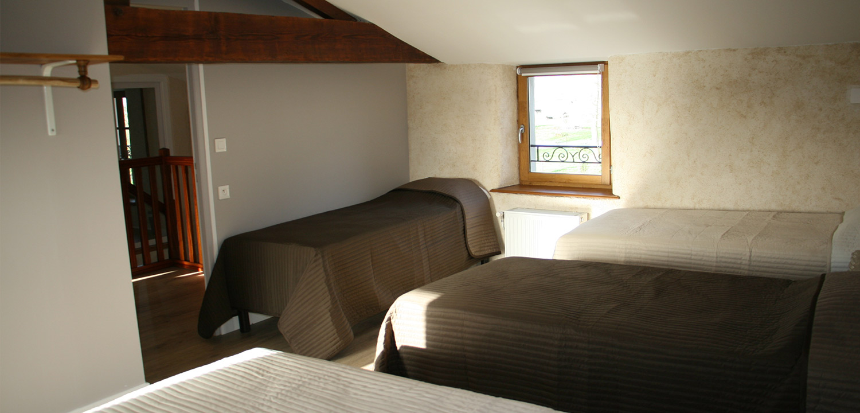 Le Gîte de Grand-Lieu proche de Bouaye, les chambres à partager